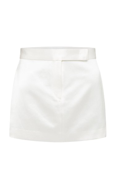 Jacks Cotton-Silk Mini Skirt