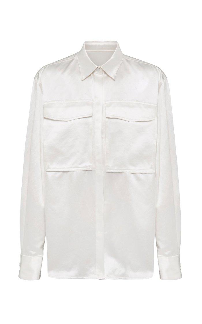 Chandler Oversized Cotton-Silk Shirt