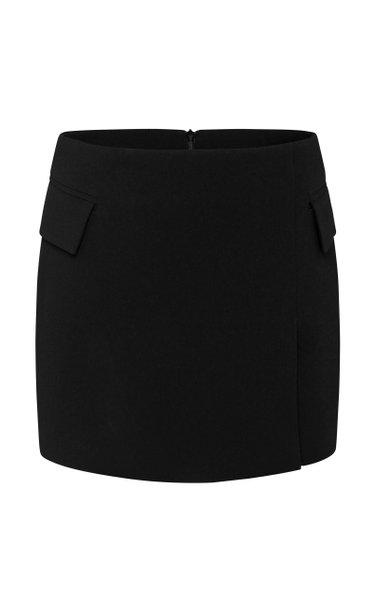 Izzy Satin Crepe Mini Skirt