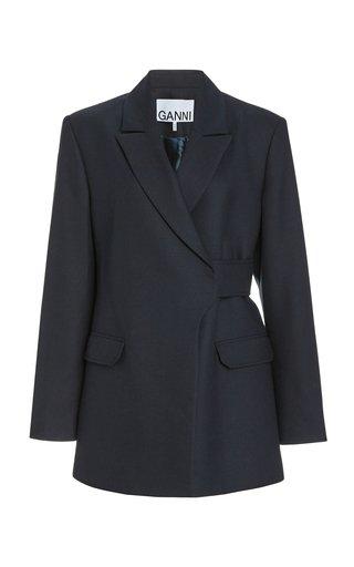 Single-Breasted Stretch-Wool Blazer