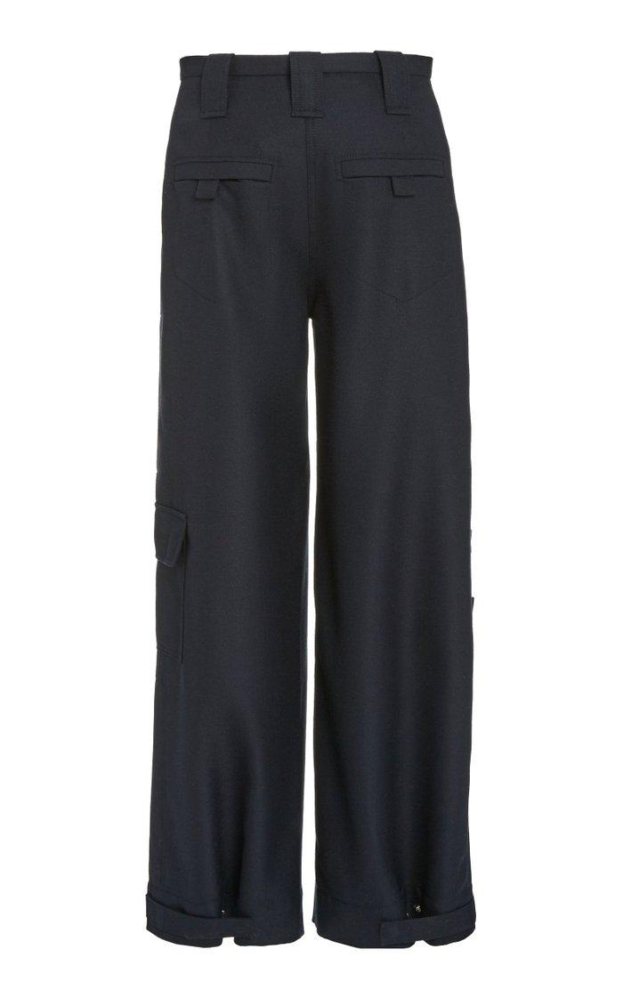 Wool Wide-Leg Suiting Pants