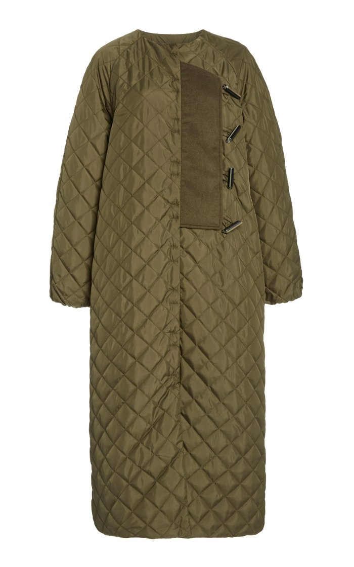 Quilted Recycled Nylon Coat