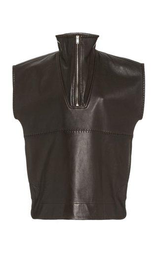 Stitch Leather Vest