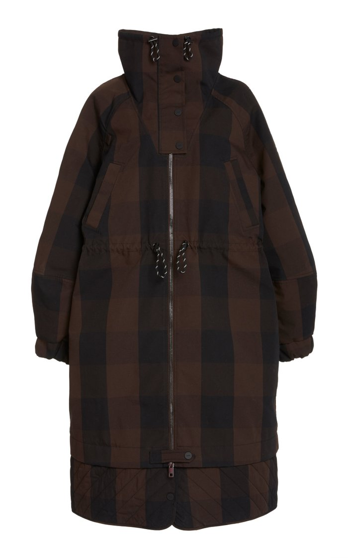 Checked Double-Cotton Jacket