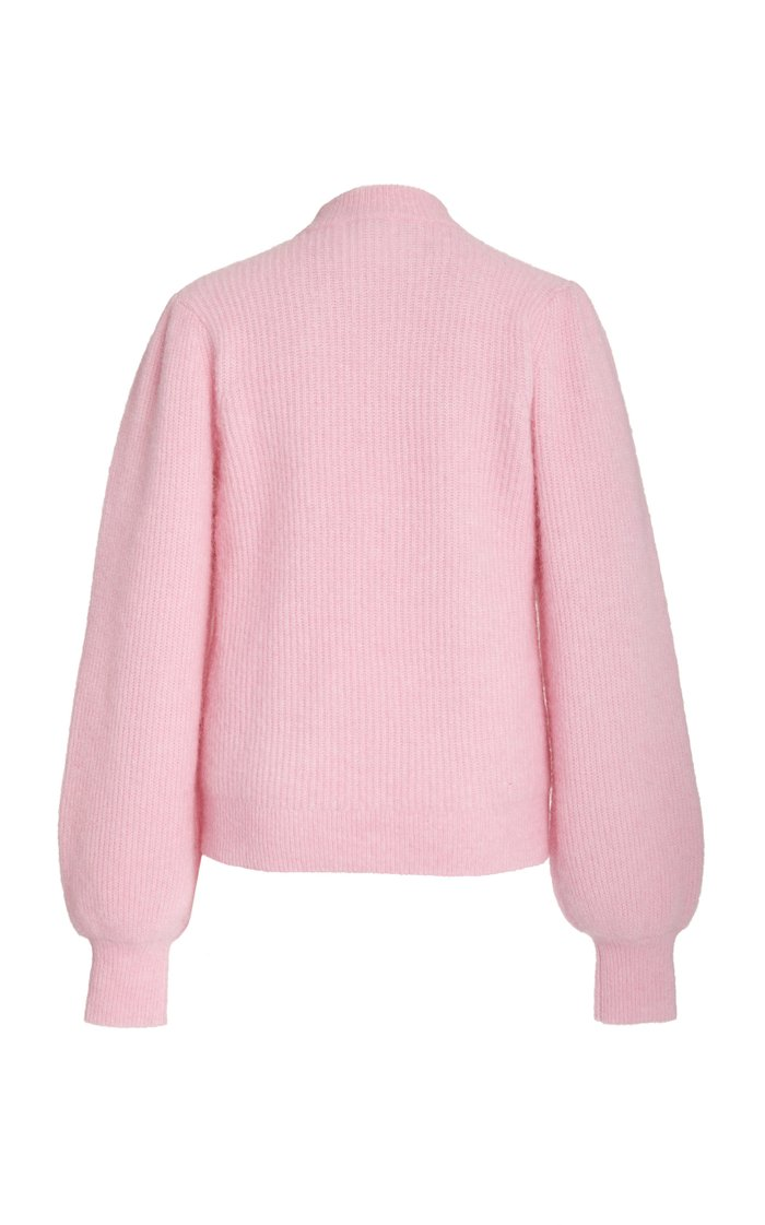 Ribbed-Knit Wool-Blend Sweater