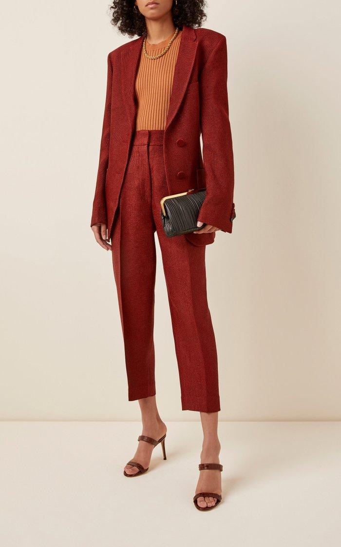 Susanna Pleated Leather Clutch