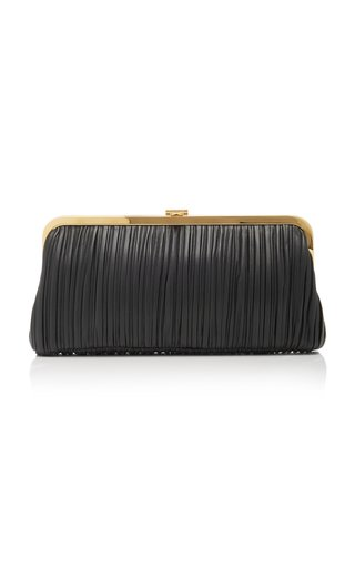 Susanna Pleated Leather Clutch