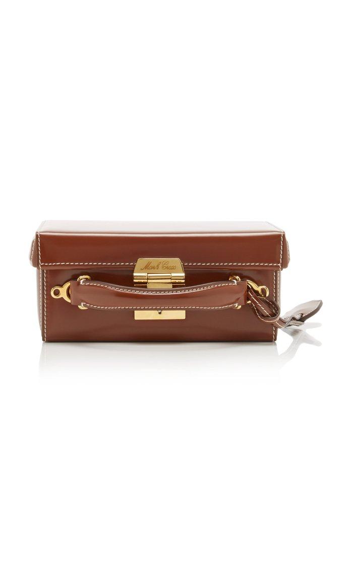 Grace Small Patent-Leather Shoulder Bag