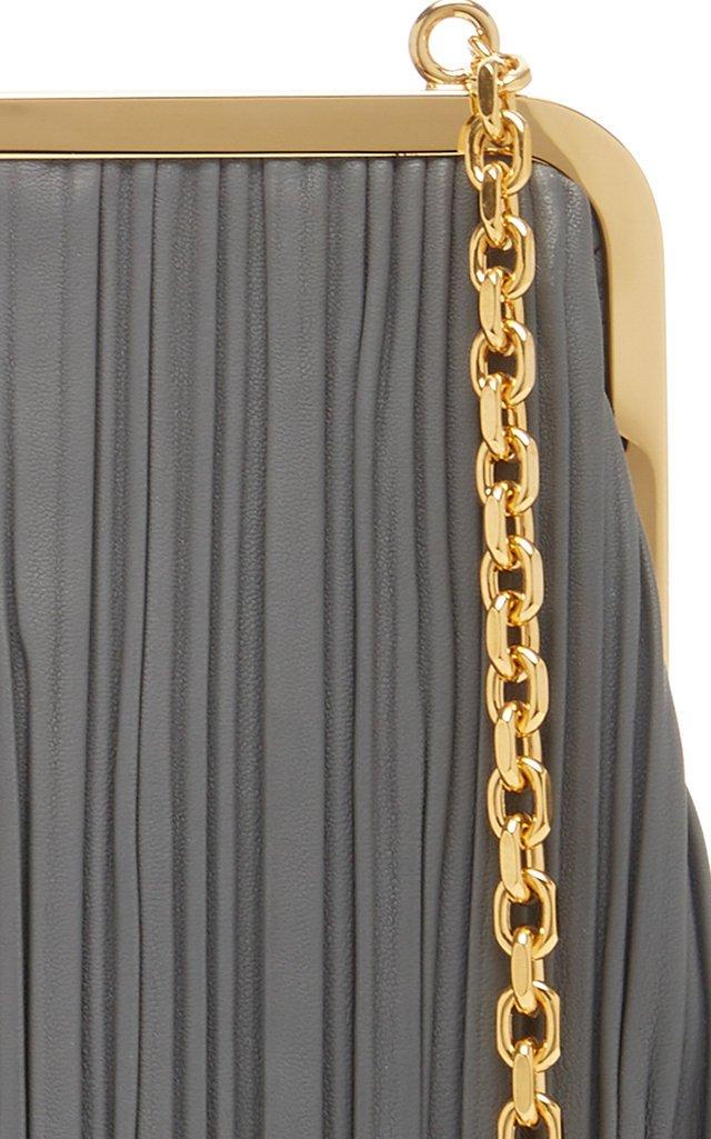 Susanna Pleated Leather Shoulder Bag