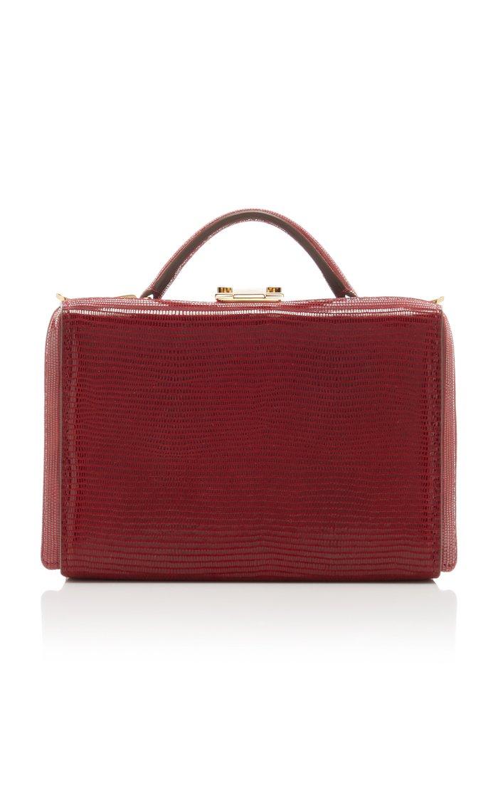 Grace Mini Lizard-Effect Leather Shoulder Bag