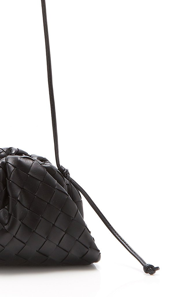 Small Woven Leather Crossbody Bag