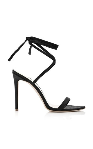 Suede Ankle Wrap Sandals