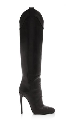 Leather Knee High Boots