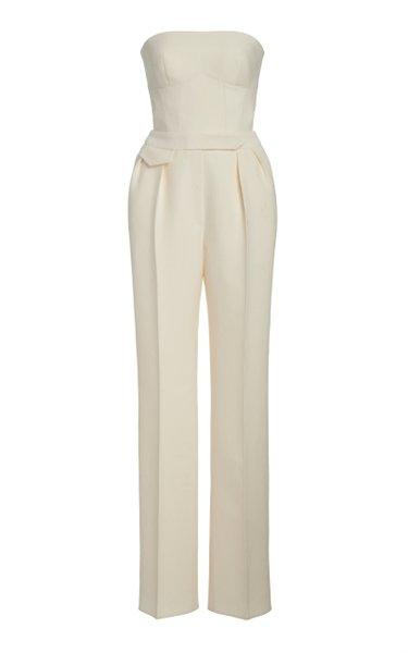 Strapless Wool-Silk Jumpsuit