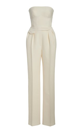 Strapless Wool-Silk Jumpsuit