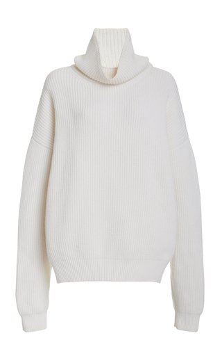 Oversized Wool-Blend Turtleneck Sweater