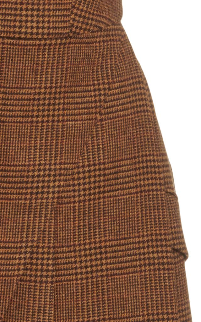 Plaid Wool Midi Halter Dress