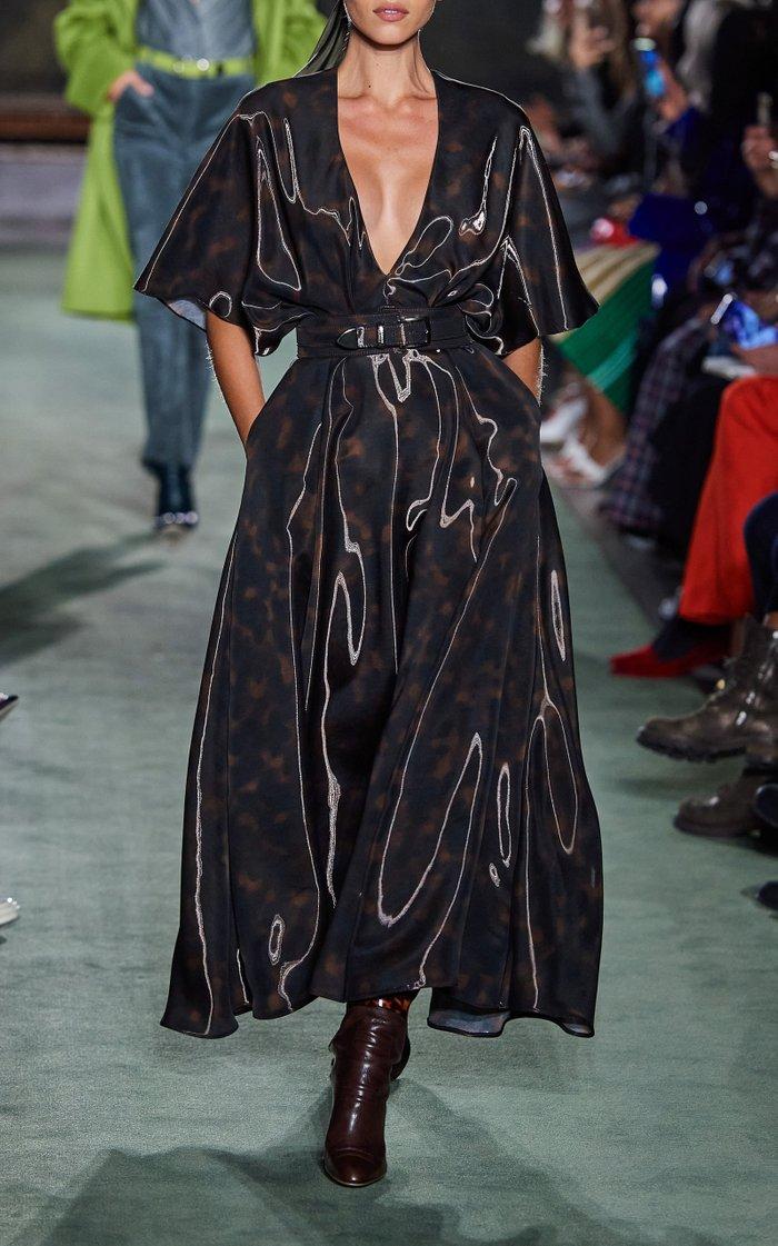 Liquid Tortoiseshell Midi Dress