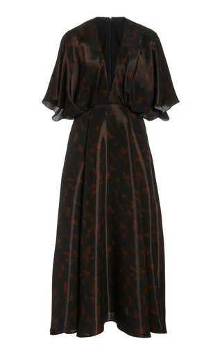 Liquid Tortoiseshell Midi Dress