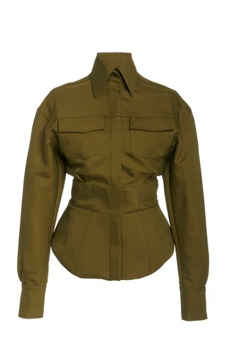 Belted Woven Safari Jacket