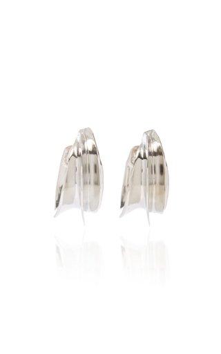 x Kenneth Jay Lane Silver-Tone Hoop Earrings