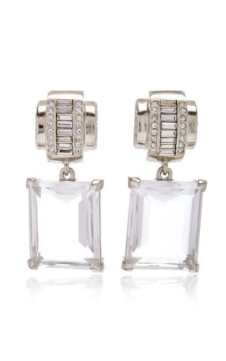 x Kenneth Jay Lane Glass Crystal Earrings