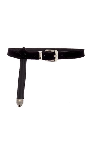 Skinny Velvet Belt