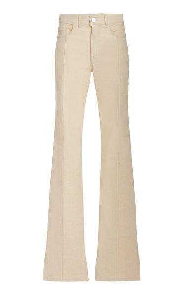 Stretch High-Rise Flared-Leg Jeans