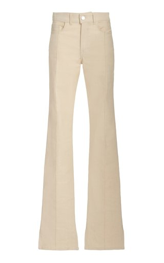 Stretch High-Rise Flared-Leg Jeans