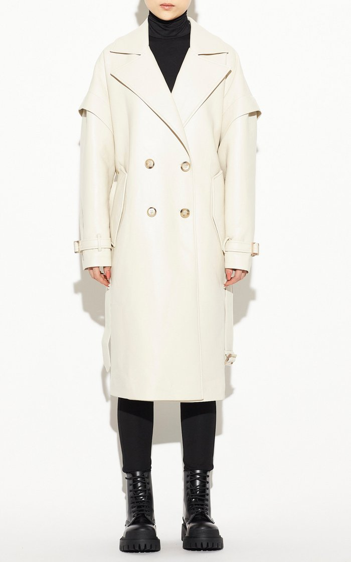 Kiera Vegan Leather Trench Coat