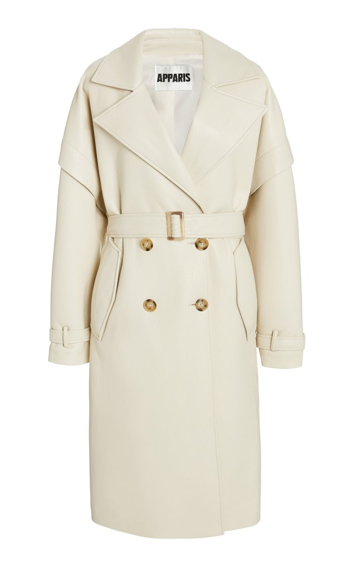 Kiera Vegan Leather Trench Coat