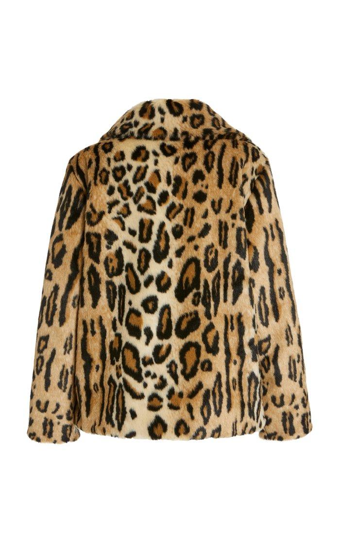 Gianna Leopard-Print Faux Fur Coat