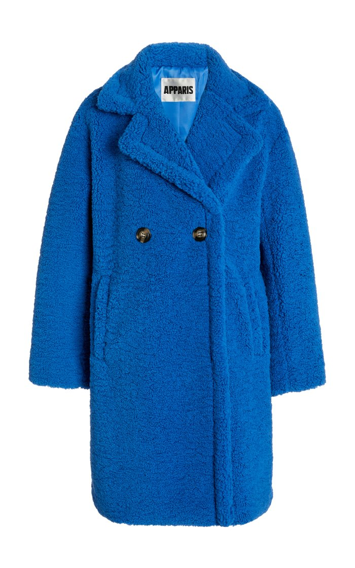 Anouck Double-Breasted Faux Shearling Coat