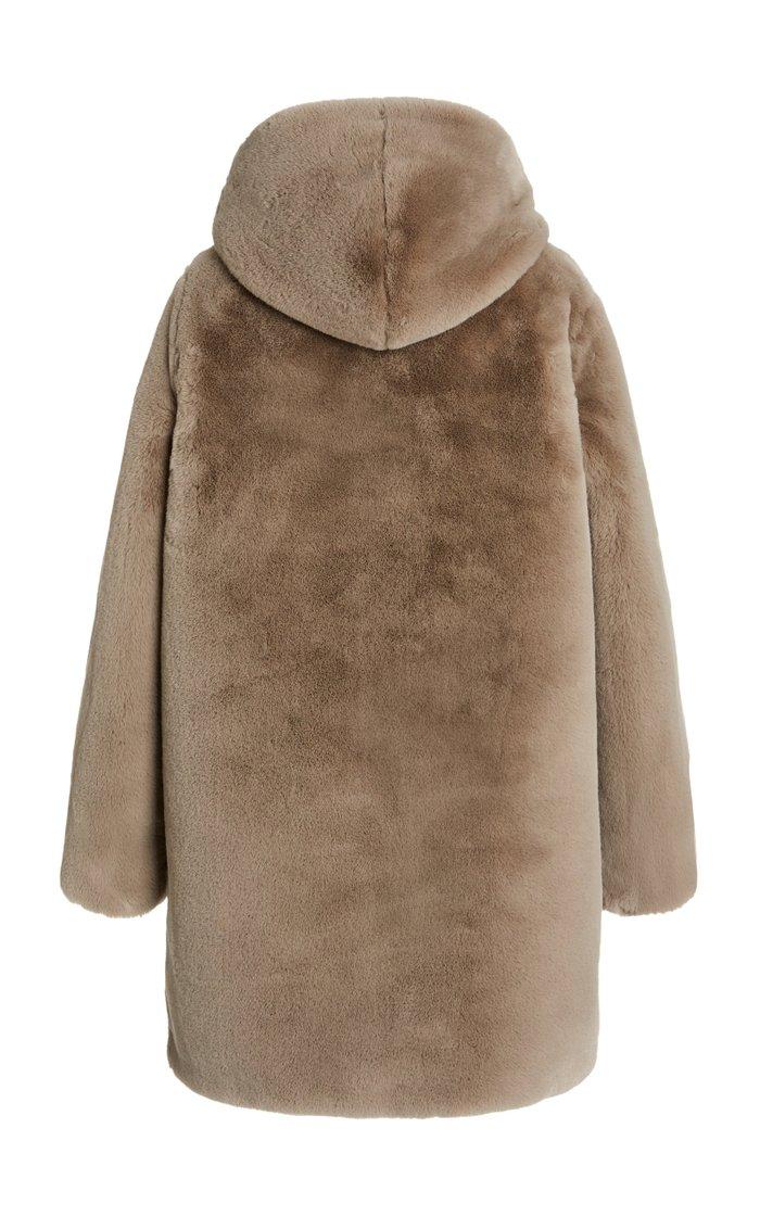 Maria Hooded Faux Fur Coat
