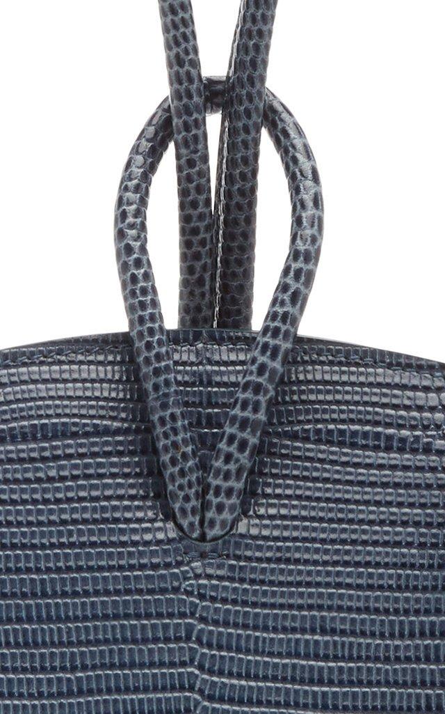 Loop Lizard-Effect Leather Top Handle Bag