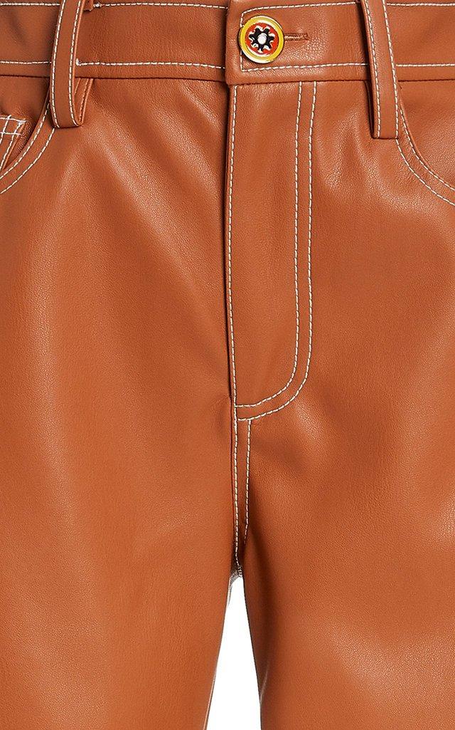 Eli Vegan Leather Straight-Leg Pants