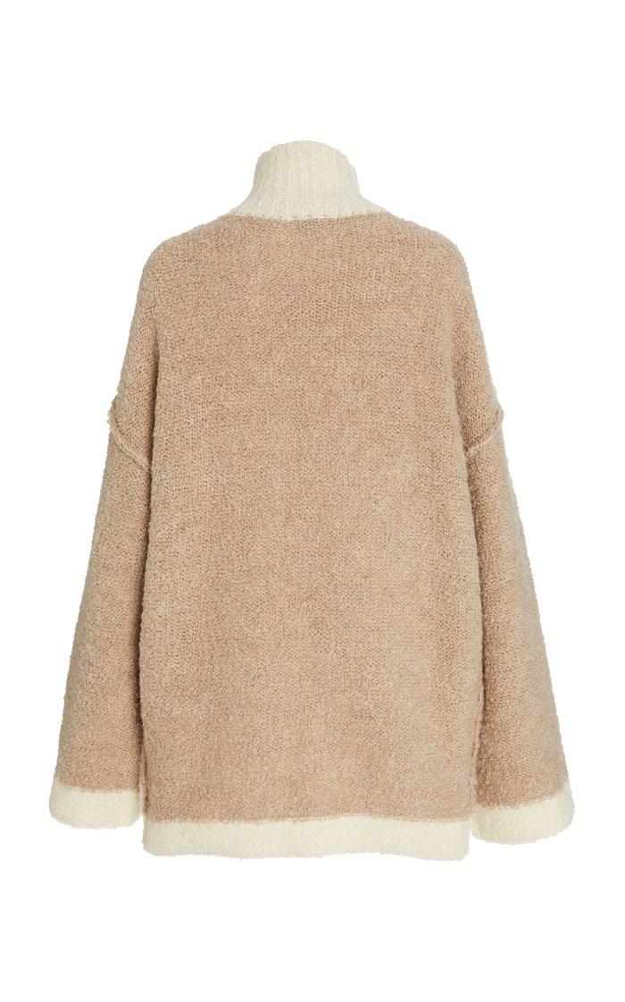 Dylan Bouclè-Knit Oversized Sweater