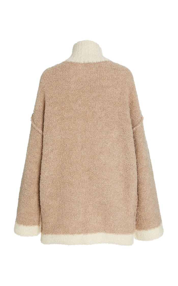 Dylan Bouclè-Knit Oversized Sweater
