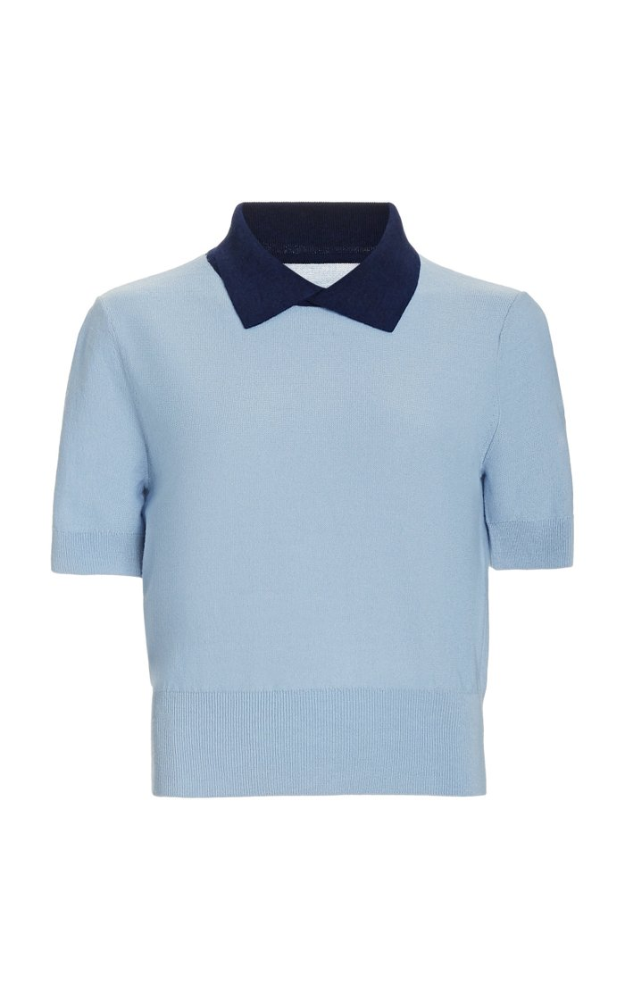 Acorn Wool-Blend Polo Sweater