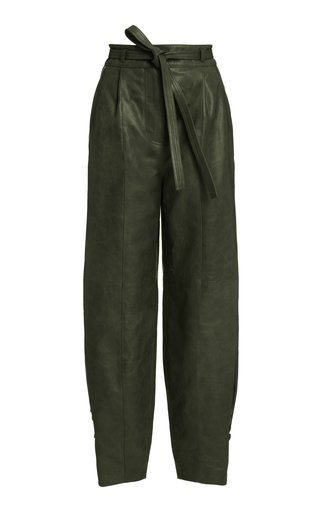 Navona High-Rise Leather Pants