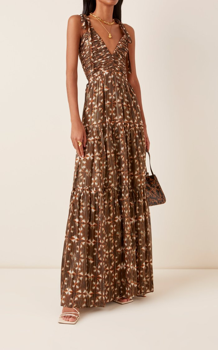 Lirra Printed Silk-Blend Dress