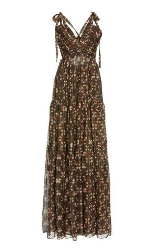 Lirra Printed Silk-Blend Dress