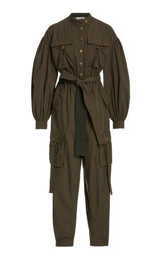 Reverie Belted Cotton Jumpsuit