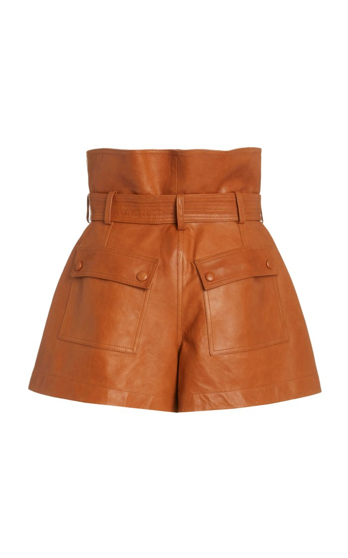 Othella High-Rise Leather Shorts