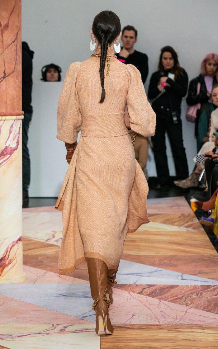 Astrid Belted Wool Turtleneck Dress