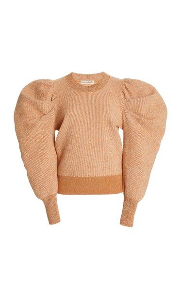 Marin Amber Puffed-Sleeve Wool Sweater