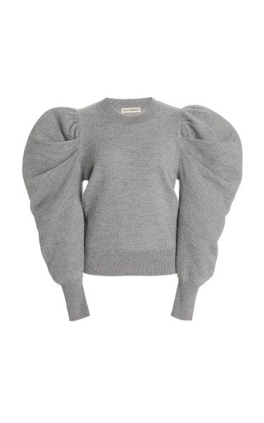 Marin Puffed-Sleeve Wool Sweater