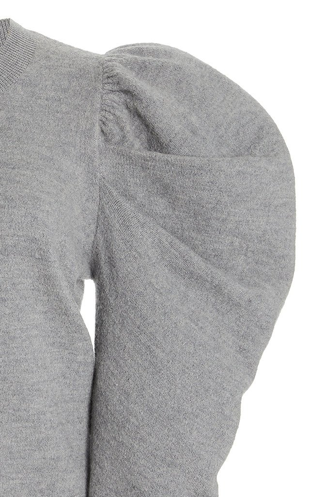 Marin Puffed-Sleeve Wool Sweater