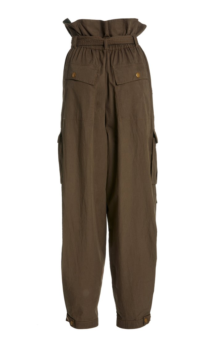 Willett High-Rise Cotton Pants