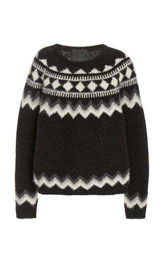 Adene Alpaca-Blend Fair Isle Sweater